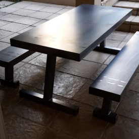 Steel Table and Benches